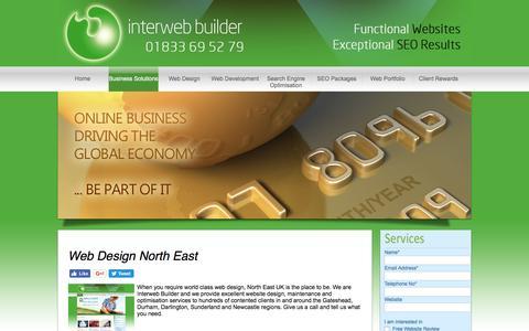 Screenshot of Press Page interwebbuilder.co.uk - Web Design North East - Interweb Builder Limited - captured Jan. 6, 2017