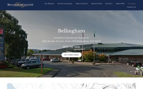 Screenshot of Locations Page bellinghamyachts.com - Bellingham — Bellingham Yachts - captured Aug. 1, 2018