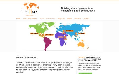 Screenshot of Maps & Directions Page thriive.org - Thriive |   Where Thriive Works - captured Aug. 17, 2016