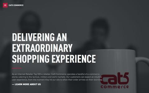 Screenshot of Home Page cat5.com - Cat5 Commerce: Delivering an extraordinary shopping experience - captured Sept. 24, 2018