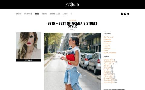 Screenshot of Blog aghair.com - Hair Fashion and Inspirations, How-to Videos, Interviews - AG Hair Blog - captured Oct. 4, 2014