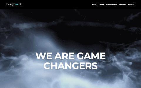 Screenshot of Home Page designwerk.co.uk - HOME - Designwerk - captured Aug. 6, 2018