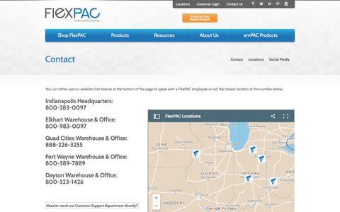 Screenshot of Terms Page flexp.com - Contact - captured Oct. 14, 2017