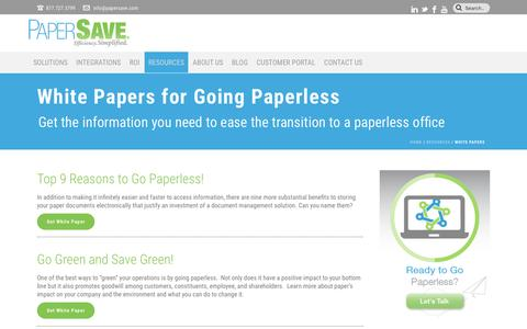 PaperSave WhitePapers | PaperSave