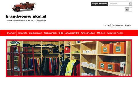 Screenshot of Home Page brandweerwinkel.nl - Brandweerwinkel.nl de brandweerwinkel van Nederland! - captured Nov. 13, 2018