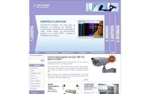 Screenshot of Home Page colordesign.ro - DVR | supraveghere video | CCTV - Color Design - captured Oct. 3, 2014