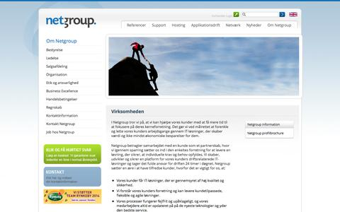 Screenshot of About Page netgroup.dk - Om Netgroup | Netgroup - captured Sept. 23, 2014