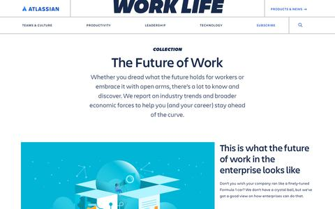 Screenshot of Blog atlassian.com - The Future of Work Archives - Work Life by Atlassian - captured Feb. 8, 2020