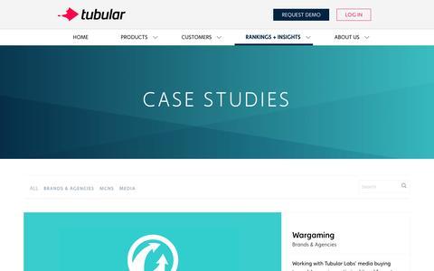 Screenshot of Case Studies Page tubularlabs.com - Case Studies Archive » Tubular Labs - captured July 4, 2016