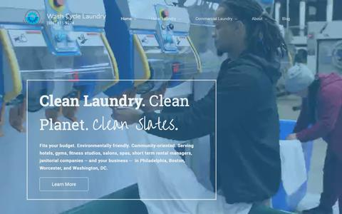 Screenshot of Home Page washcyclelaundry.com - Wash Cycle Laundry | Commercial Laundry and Linen Rental - captured Nov. 16, 2018