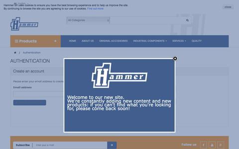 Screenshot of Login Page hammer.biz - Autenticazione - Hammer Srl - captured Oct. 4, 2016