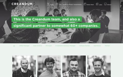 Screenshot of Team Page creandum.com - Team members | Creandum - captured March 7, 2016