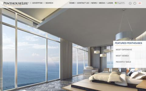Screenshot of Home Page penthouselife.com - Penthouses For Sale | Penthouselife.com ™ - captured Oct. 2, 2014