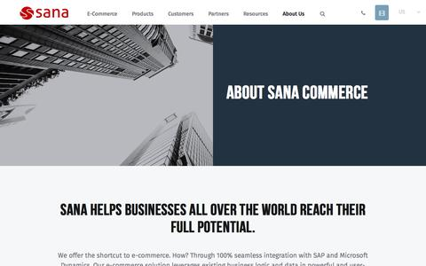 Screenshot of About Page sana-commerce.com - About Sana | Sana Commerce - captured May 27, 2017
