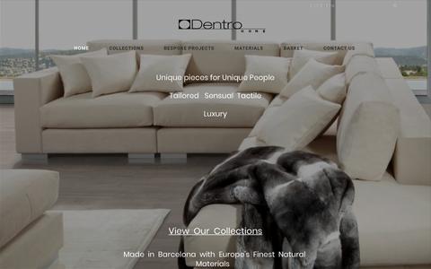 Screenshot of Home Page dentrohome.com - Dentro Home | - captured Nov. 6, 2018
