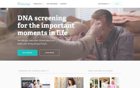 Counsyl | DNA screening for the important moments in life