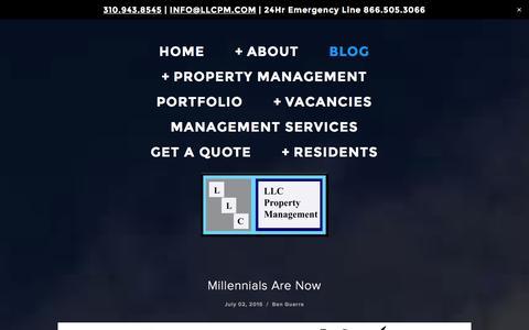 Screenshot of Blog llcpm.com - Blog — LLC Property Management - captured Jan. 23, 2016