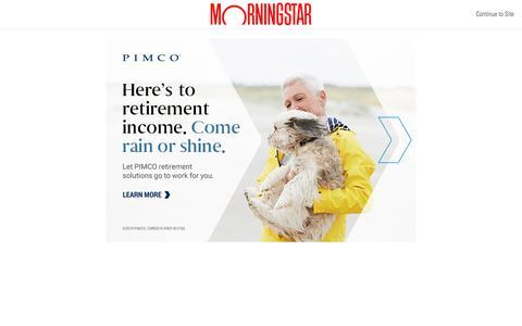 Screenshot of Pricing Page morningstar.com - US Videos   Morningstar - captured Dec. 4, 2019