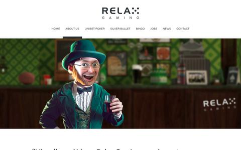 Screenshot of About Page relax-gaming.com - About us - Relax Gaming Ltd. - captured Oct. 24, 2017