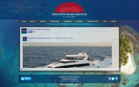 Screenshot of Press Page yachtservicespanama.com - Executive Yacht Services - Panama - captured Oct. 3, 2014
