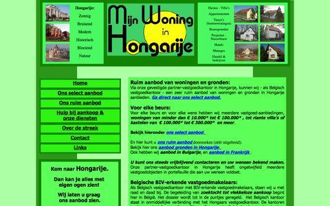 Screenshot of Home Page mijnwoninginhongarije.be - Home - captured Sept. 30, 2014
