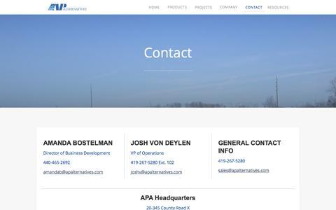 Screenshot of Contact Page apalternatives.com - Contact - captured July 23, 2016