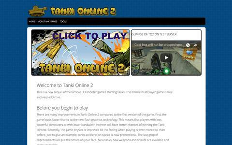 Screenshot of Home Page tankionline-2.com - Tanki Online 2 - Free Tanki Online 2.0 Game - captured Jan. 30, 2018