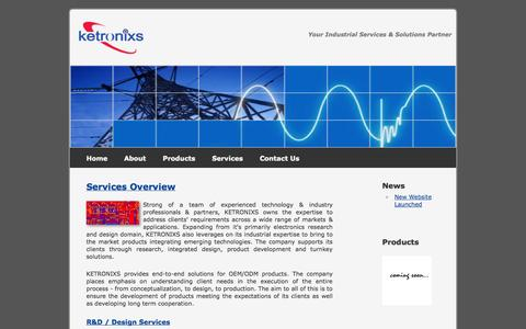 Screenshot of Services Page ketronixs.com - Ketronixs Sdn Bhd - Electronic Design Services - captured Oct. 6, 2014