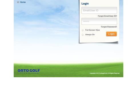 Screenshot of Login Page ontogolf.com - :: OntoGolf :: - captured Oct. 26, 2014