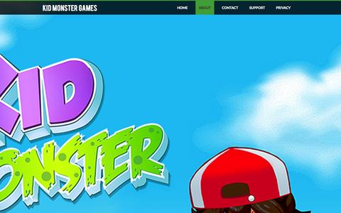 Screenshot of About Page weebly.com - About - kid monster games - captured Sept. 17, 2014