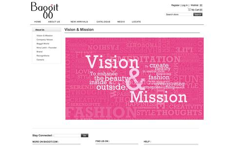 Screenshot of About Page baggit.com - Vision and Mission - Baggit - captured Nov. 22, 2016