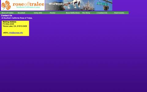 Screenshot of Contact Page southerncaliforniaroseoftralee.com - Contact Us - captured June 7, 2016