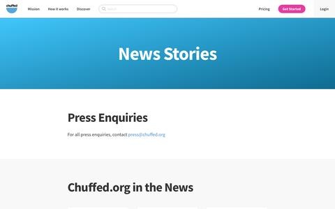 News Stories | Chuffed | Non-profit charity and social enterprise fundraising