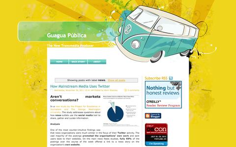 Screenshot of Press Page guaguapublica.com - Guagua Pública: news - captured Oct. 3, 2014