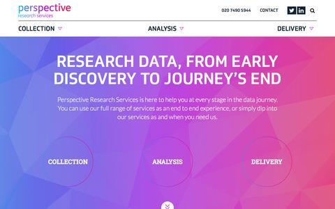 Screenshot of Home Page perspectivemr.co.uk - Perspective Research ServicesHome - Perspective Research Services - captured Nov. 4, 2016