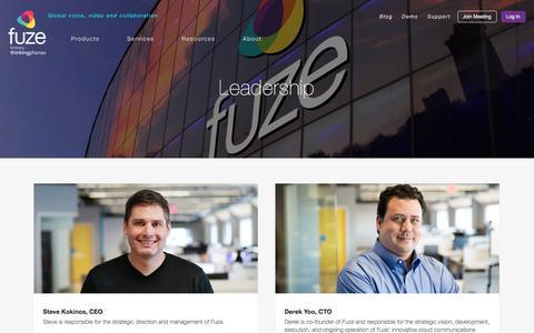 Screenshot of Team Page fuze.com - Leadership | Fuze - captured March 22, 2016