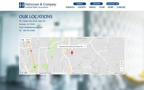 Screenshot of Maps & Directions Page halversoncpa.com - Halverson & Company, Certified Public Accountants | MAP - captured July 13, 2017