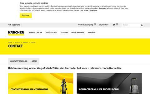 Screenshot of Contact Page kaercher.com - Contact   Kärcher - captured Oct. 16, 2018