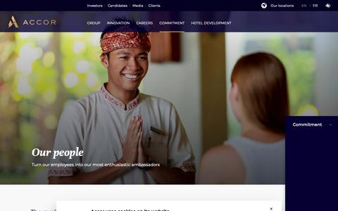 Screenshot of Team Page accor.com - Our people - captured March 2, 2019