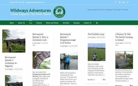 Screenshot of Blog wildwaysadventures.ie - Wildways Adventures Blog | Wildways Adventures - captured Feb. 17, 2016