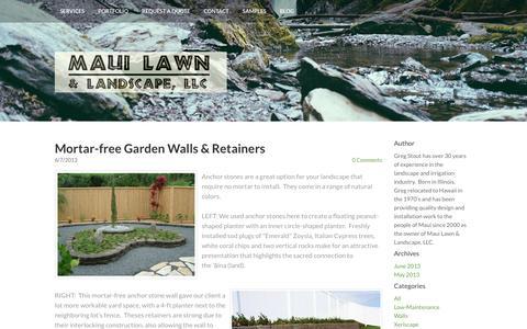 Screenshot of Blog mauilawn.net - - Maui Lawn - Blog - captured Nov. 28, 2016