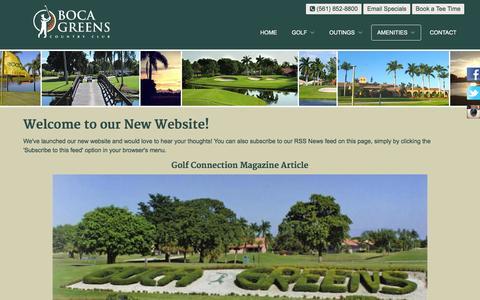Screenshot of Press Page bocagreenscountryclub.com - Boca Greens Country Club | Public Championship Florida Golf Course - Boca News - captured Jan. 6, 2016