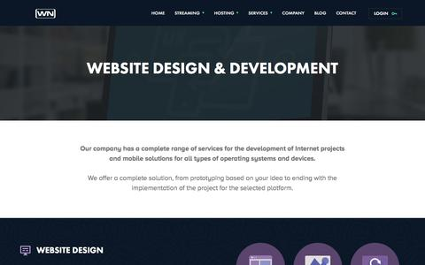 Screenshot of Services Page webnethosting.net - Website Design & Development located in washington dc - captured Jan. 19, 2016