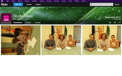 Screenshot of Flickr Page flickr.com - Flickr: Studio Ideas' Photostream - captured Oct. 25, 2014