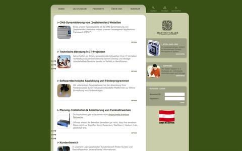 Screenshot of Services Page jpeto.net - Unsere Leistungen - Martin Thaller IT Dienstleistungen, Wien - captured March 14, 2016