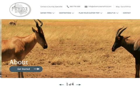 Screenshot of About Page adventuresinafrica.com - About - Africa Adventure Consultants - captured July 10, 2019