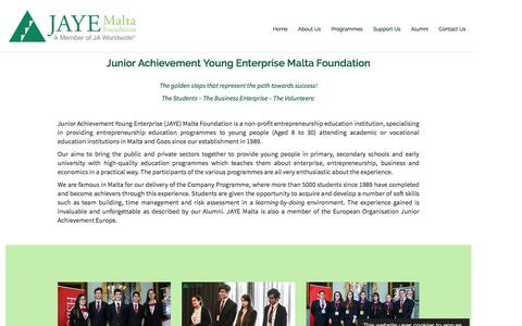 Screenshot of About Page jayemalta.org - About Us – JAYE Malta - captured April 8, 2017