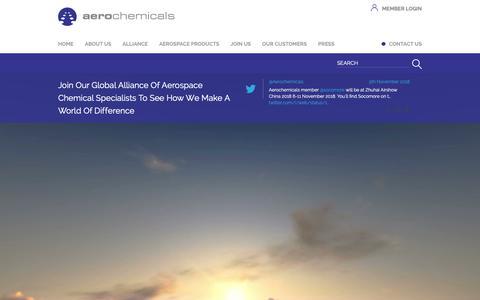 Screenshot of Home Page aerochemicals.com - Aerochemicals - captured Nov. 6, 2018