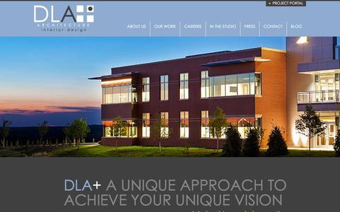 Screenshot of Home Page dlaplus.com - DLA+ Architecture & Interior Design - captured Jan. 21, 2016