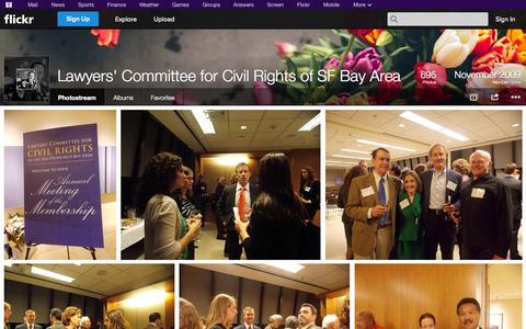 Screenshot of Flickr Page flickr.com - Flickr: Lawyers' Committee for Civil Rights of SF Bay Area's Photostream - captured Nov. 1, 2014
